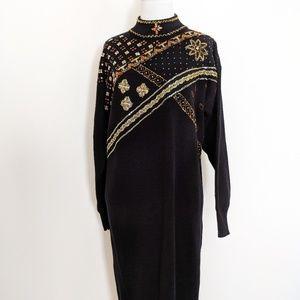 VTG Beaded Sweater Dress